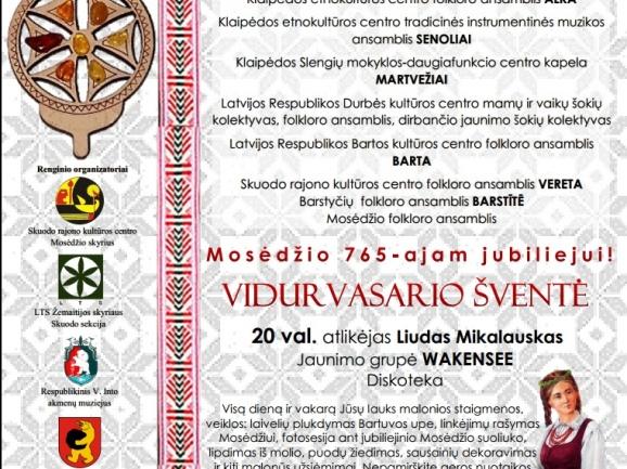 Folkloro ir vidurvasario šventė Mosėdyje